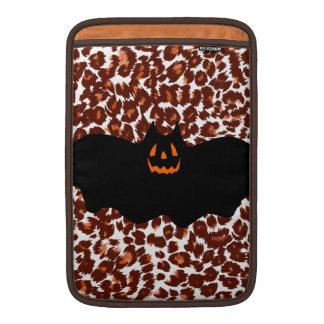 Bat On Leopard Spot Background MacBook Air Sleeves