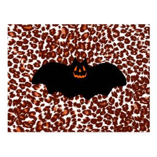 Bat On Leopard Spot Background Post Cards
