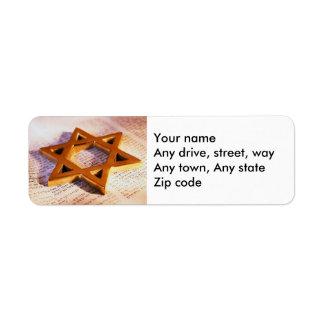 Bat or Bar Mitzvah Return Address Label