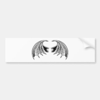 Bat or Dragon Wings Bumper Sticker