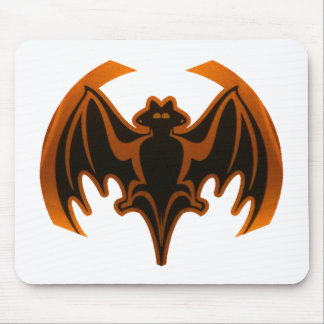 Bat Orange The MUSEUM Zazzle Gifts Mouse Pad