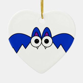 Bat Ceramic Heart Decoration