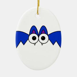 Bat Ceramic Oval Decoration