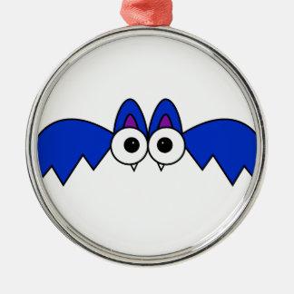 Bat Silver-Colored Round Decoration