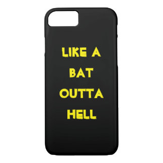 Bat out of Hell iphone case funny humor wild 1