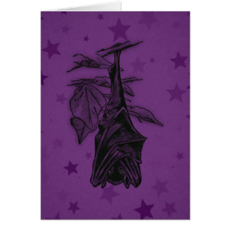 Bat Painting Card