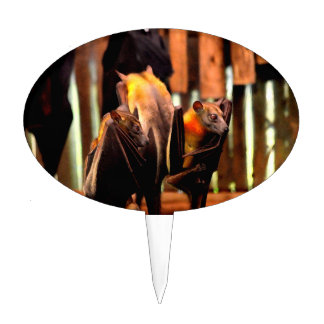 bat painting critter animal standing up cake topper