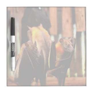 bat painting critter animal standing up dry erase board
