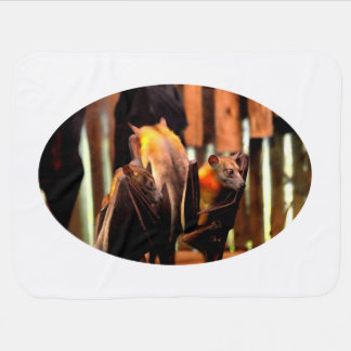 bat painting critter animal standing up swaddle blanket