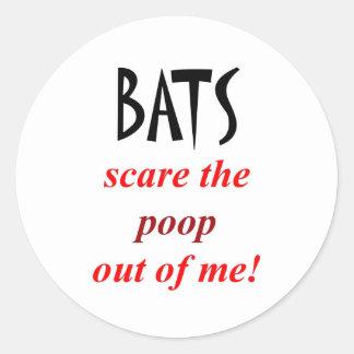 Bat Phobia Round Sticker