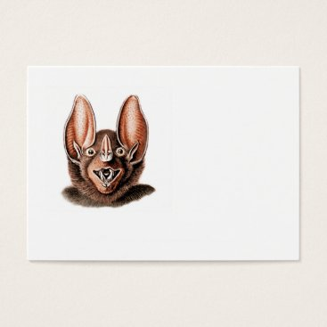 Halloween Themed Bat Portrait Retro in Orange Business Card