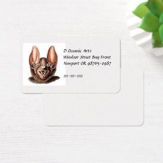 Bat Portrait Retro in Orange Business Card