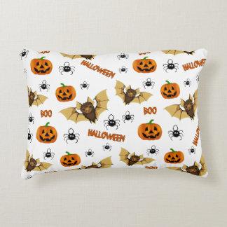 Bat, pumpkin and spider pattern accent pillow