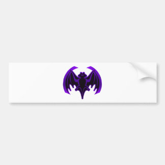Bat Purple The MUSEUM Zazzle Gifts Bumper Sticker