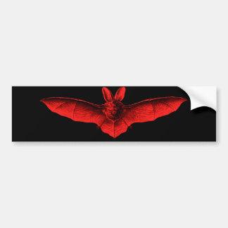 Bat Red Bumper Stickers