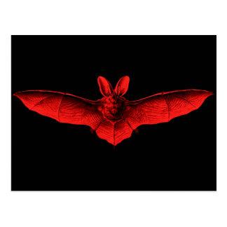 Bat Red Postcard