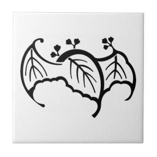 Bat-shaped paulownia ceramic tile