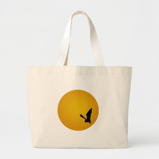 Bat Silhouette On the Moon Canvas Bags