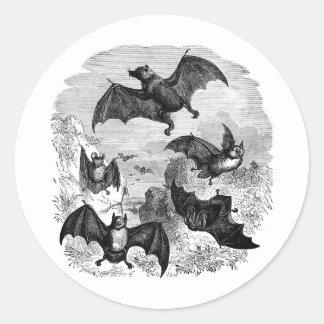 Bat Sketch Classic Round Sticker