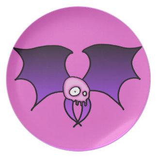 Bat Skull Dinner Plate