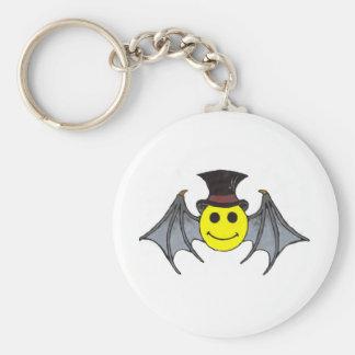 Bat Smiley Keychain