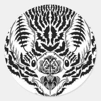 Bat Spirit Animal Classic Round Sticker