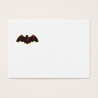 Bat Spread Wing Woodcut Business Card