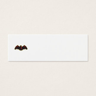 Bat Spread Wing Woodcut Mini Business Card