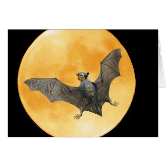 Bat Squirrel Moon Halloween Card