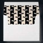 "Bat Stripes Envelope<br><div class=""desc"">Antique white and black bat stripe pattern.</div>"