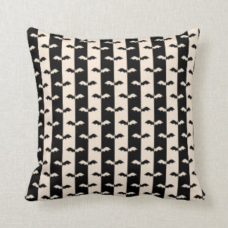Bat Stripes Throw Pillow