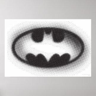 Bat Symbol - Batman Logo Halftone Poster