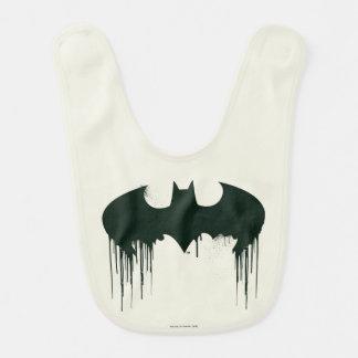 Bat Symbol - Batman Logo Spraypaint Baby Bib