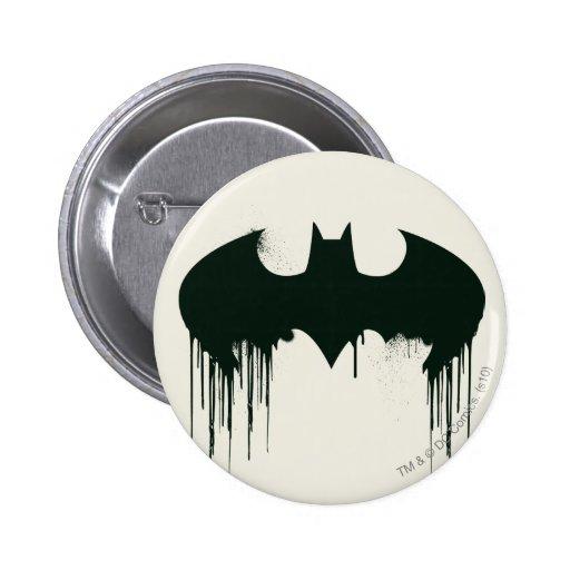 Bat Symbol - Batman Logo Spraypaint 2 Inch Round Button