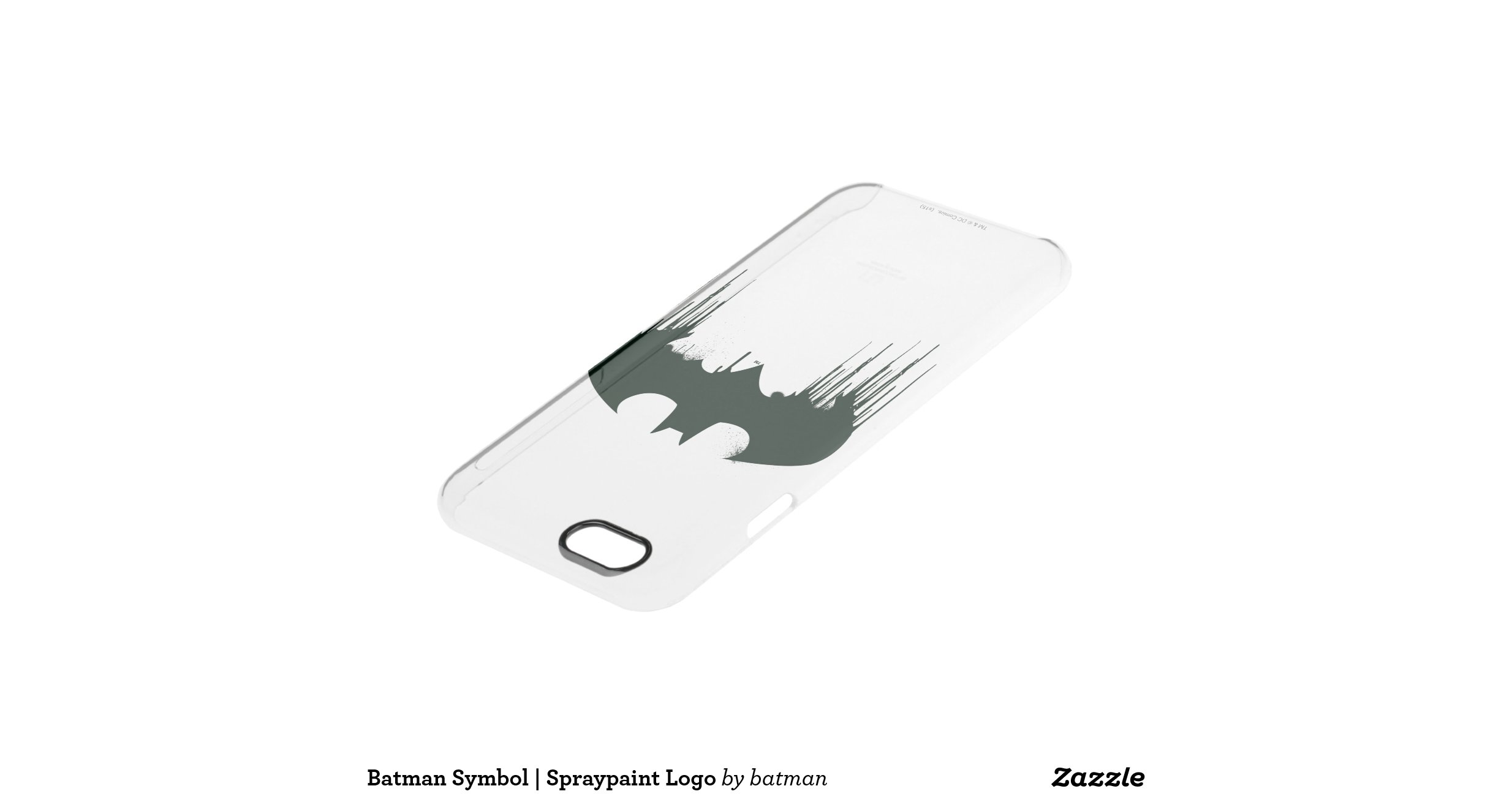 Bat symbol batman logo spraypaint uncommon clearly for Spray paint phone case