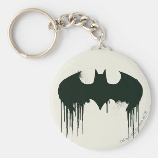 Bat Symbol - Batman Logo Spraypaint Basic Round Button Keychain