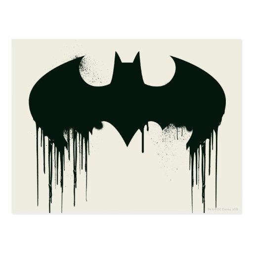 Bat Symbol - Batman Logo Spraypaint Post Cards