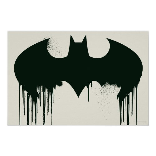 Bat Symbol Batman Logo Spraypaint Poster