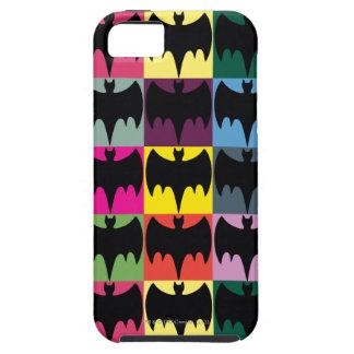 Bat Symbol Grid Pattern iPhone 5 Cases