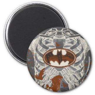 Bat Symbol Ribcage Vintage Collage Magnet