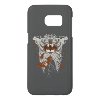 Bat Symbol Ribcage Vintage Collage Samsung Galaxy S7 Case