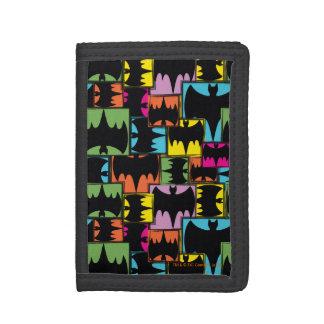 Bat Symbol Squares Pattern Trifold Wallet