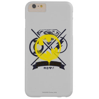 Bat Symbol Tagged Over Justice League Barely There iPhone 6 Plus Case