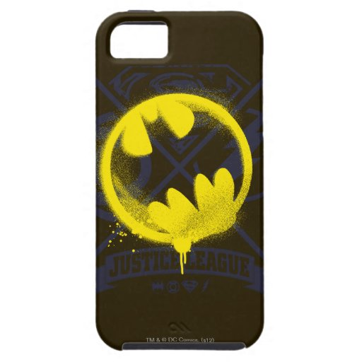 Bat Symbol Tagged Over Justice League iPhone 5 Covers