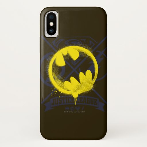 Bat Symbol Tagged Over Justice League iPhone X Case