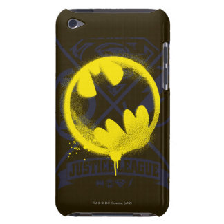 Bat Symbol Tagged Over Justice League iPod Touch Case-Mate Case