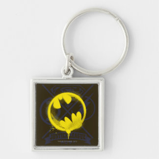 Bat Symbol Tagged Over Justice League Keychain