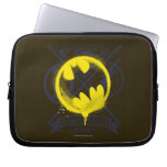 Bat Symbol Tagged Over Justice League Laptop Sleeve