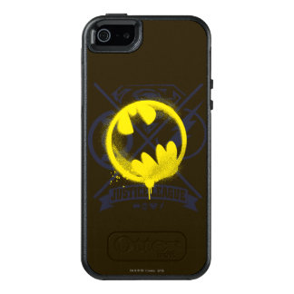 Bat Symbol Tagged Over Justice League OtterBox iPhone 5/5s/SE Case