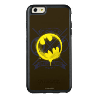 Bat Symbol Tagged Over Justice League OtterBox iPhone 6/6s Plus Case